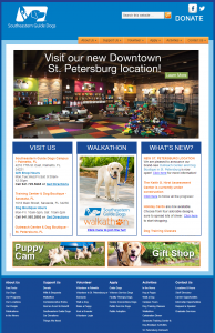 Screenshot of Southeastern Guidedogs.org