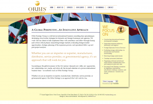 Screenshot Orbis Strategy Group